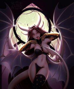 Rating: Questionable Score: 7 Tags: breasts devil horns maebari miranda_(zliva) monster_girl no_bra nopan tail thighhighs wings zliva User: dick_dickinson