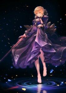 Rating: Safe Score: 45 Tags: botamochi_kazu dress fate/grand_order fate/stay_night saber saber_alter skirt_lift sword User: Nepcoheart