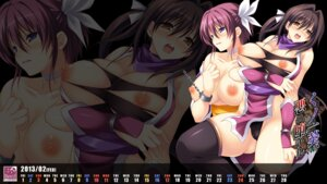 Rating: Questionable Score: 40 Tags: bondage breasts calendar cameltoe devil-seal kunoichi_aoi_aku_ni_ochiru ninja nipples pantsu shindou_mikeko thighhighs torn_clothes wallpaper User: blooregardo