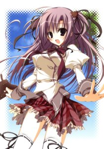 Rating: Safe Score: 23 Tags: inugami_kira k-books seifuku thighhighs User: crim