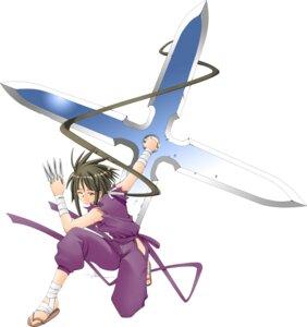 Rating: Safe Score: 4 Tags: mahou_sensei_negima nagase_kaede ninja weapon User: Radioactive