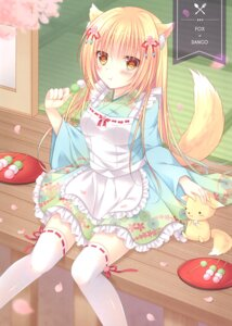 Rating: Questionable Score: 6 Tags: animal_ears kitsune maid tagme tail thighhighs wa_maid User: Radioactive