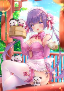 Rating: Questionable Score: 45 Tags: cleavage garter maid pantsu string_panties thighhighs yuyuko_(yuyucocco) User: Mr_GT