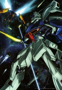 Rating: Safe Score: 7 Tags: char's_counterattack gundam komatsu_eiji_(animator) mecha sword User: drop
