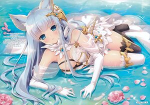 Rating: Safe Score: 123 Tags: animal_ears cleavage dress granblue_fantasy korwa limited ozawa_yuu see_through thighhighs wet User: Hatsukoi