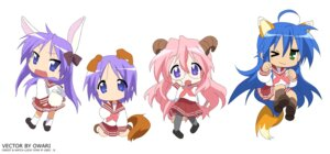 Rating: Safe Score: 19 Tags: animal_ears hiiragi_kagami hiiragi_tsukasa izumi_konata lucky_star pantyhose seifuku signed takara_miyuki vector_trace User: Radioactive