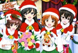 Rating: Safe Score: 34 Tags: akiyama_yukari christmas girls_und_panzer isuzu_hana kawashima_momo megane nishizumi_miho ou_kunitoshi seifuku User: drop