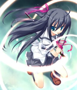 Rating: Safe Score: 36 Tags: game_cg kanou_kayoko koiiro_soramoyou lucie seifuku sword User: Radioactive
