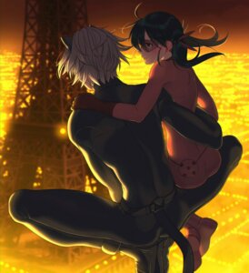 Rating: Safe Score: 13 Tags: aconitea animal_ears bodysuit cat_noir ladybug miraculous_ladybug nekomimi User: charunetra