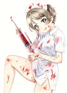 Rating: Questionable Score: 22 Tags: agoitei blood love_live!_sunshine!! nurse sankuro watanabe_you User: Radioactive
