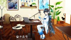Rating: Safe Score: 35 Tags: dress headphones suishou_shizuku wallpaper yukata User: hirotn