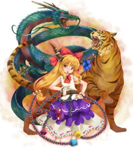 Rating: Safe Score: 8 Tags: horns ibuki_suika michii_yuuki touhou User: konstargirl