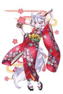 Rating: Safe Score: 30 Tags: animal_ears inubashiri_momiji kimono namauni tail touhou User: Mr_GT