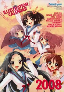 Rating: Safe Score: 5 Tags: asahina_mikuru calendar ito_noizi kyon's_sister nagato_yuki seifuku suzumiya_haruhi suzumiya_haruhi_no_yuuutsu tsuruya User: vita
