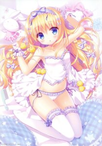 Rating: Questionable Score: 88 Tags: cameltoe lingerie pantsu sasai_saji string_panties thighhighs User: Twinsenzw