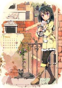 Rating: Safe Score: 69 Tags: calendar heels kantoku neko shizuku_(kantoku) thighhighs User: Hatsukoi