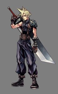 Rating: Safe Score: 19 Tags: armor cloud_strife dissidia_final_fantasy final_fantasy final_fantasy_vii male nomura_tetsuya square_enix sword transparent_png User: Lua