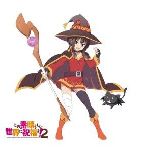Rating: Safe Score: 23 Tags: bandages chomusuke_(kono_subarashii_sekai_ni_shukufuku_wo!) dress kono_subarashii_sekai_ni_shukufuku_wo! megumin neko tagme thighhighs weapon witch User: saemonnokami