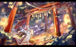 Rating: Safe Score: 29 Tags: animal_ears caster_(fate/extra) fate/extra fate/stay_night inshou japanese_clothes kitsune landscape tail umbrella User: Mr_GT