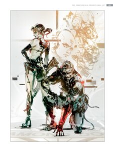 Rating: Safe Score: 11 Tags: big_boss_(metal_gear) gun metal_gear_solid_v:_the_phantom_pain quiet_(metal_gear_solid) shinkawa_yoji sketch User: Radioactive