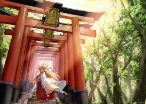 Rating: Safe Score: 11 Tags: animal_ears kitsune miko tagme tail User: Mr_GT