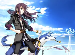 Rating: Safe Score: 9 Tags: osamu repede sword tales_of tales_of_vesperia yuri_lowell User: hobbito