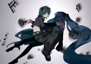 Rating: Safe Score: 7 Tags: gumi hatsune_miku marirero_a thighhighs vocaloid User: Hatsukoi