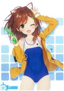 Rating: Safe Score: 79 Tags: gun high_school_fleet irizaki_mei open_shirt peco school_swimsuit swimsuits User: fireattack
