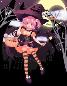 Rating: Questionable Score: 20 Tags: halloween pantsu plus9 thighhighs witch User: Nekotsúh