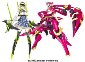 Rating: Safe Score: 18 Tags: gunslinger_stratos lyusya mecha mecha_musume miwa_shirow shinou_matsurika User: Radioactive