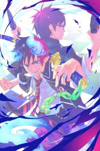 Rating: Safe Score: 14 Tags: ao_no_exorcist gun male megane monq okumura_rin okumura_yukio seifuku sword tail User: charunetra