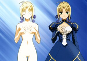 Rating: Questionable Score: 21 Tags: fate/stay_night naked saber User: Onpu