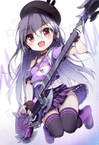 Rating: Safe Score: 32 Tags: darnell guitar headphones skirt_lift soul_worker stella_unibell thighhighs User: BattlequeenYume