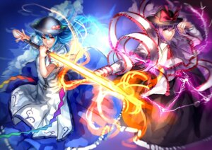 Rating: Safe Score: 10 Tags: hinanawi_tenshi nagae_iku sword touhou uu_uu_zan User: charunetra