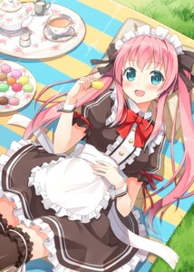 Rating: Safe Score: 52 Tags: hyuuga_azuri maid moe2015 thighhighs User: fairyren