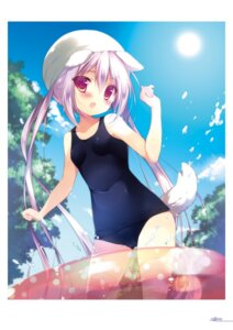 Rating: Questionable Score: 31 Tags: animal_ears cameltoe digital_version school_swimsuit shiratama shiroi_inu swimsuits tail thighhighs User: Twinsenzw