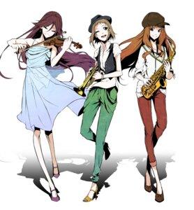 Rating: Safe Score: 27 Tags: dress heels kira_tsubasa love_live! toudou_erina vice_(kuronekohadokoheiku) yuuki_anju User: Radioactive