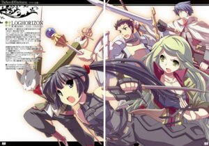 Rating: Safe Score: 16 Tags: akatsuki_(log_horizon) armor fixme gap log_horizon maryell naotsugu nyanta shiroe_(log_horizon) sword tataraba tsurugi_hagane User: petopeto