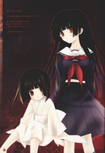 Rating: Safe Score: 9 Tags: enma_ai jigoku_shoujo ririka seifuku yukata User: Radioactive