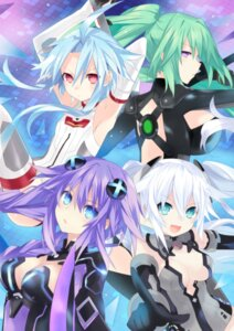 Rating: Questionable Score: 44 Tags: black_heart bodysuit choujigen_game_neptune cleavage flankoi green_heart purple_heart thighhighs white_heart User: Anonymous