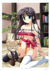 Rating: Questionable Score: 66 Tags: cleavage naked_ribbon naruse_mamoru thighhighs User: crim