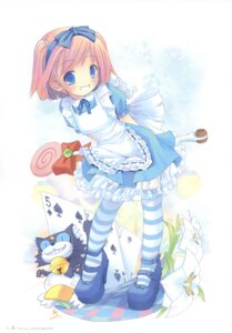 Rating: Safe Score: 37 Tags: ah-kun alice alice_in_wonderland cosplay dress ka-kun lolita_fashion moetan neko nijihara_ink pop thighhighs User: petopeto