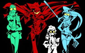 Rating: Safe Score: 16 Tags: kamina leeron simon tengen_toppa_gurren_lagann vector_trace wallpaper yoko User: HSkeleton