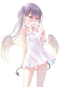 Rating: Questionable Score: 81 Tags: dress na-ga see_through summer_dress tagme tail User: edogawaconan