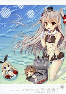 Rating: Questionable Score: 58 Tags: amatsukaze_(kancolle) bikini chibi chocolate_cube kantai_collection miwa_futaba shimakaze_(kancolle) swimsuits wet yukikaze_(kancolle) User: WtfCakes