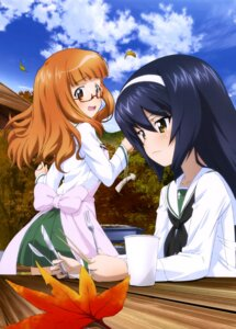 Rating: Safe Score: 26 Tags: girls_und_panzer megane reizei_mako seifuku takebe_saori User: drop