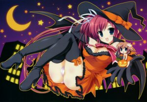 Rating: Questionable Score: 66 Tags: aries ariko_yohichi cameltoe cleavage fixed halloween nakahara_akane nakahara_kaede pantsu thighhighs trouble@spiral! witch User: castle
