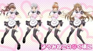 Rating: Safe Score: 14 Tags: maid parody thighhighs umineko_no_naku_koro_ni ushiromiya_eva ushiromiya_kyrie ushiromiya_natsuhi ushiromiya_rosa youshuu User: yumichi-sama