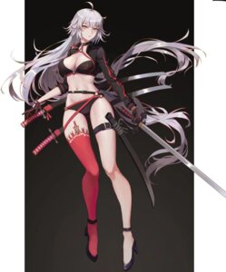 Rating: Questionable Score: 43 Tags: bikini cleavage fate/grand_order garter heels jeanne_d'arc jeanne_d'arc_(alter)_(fate) swimsuits sword tagme thighhighs User: Genex