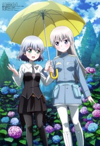 Rating: Safe Score: 20 Tags: eila_ilmatar_juutilainen pantyhose sanya_v_litvyak sawada_jouji strike_witches umbrella uniform User: drop